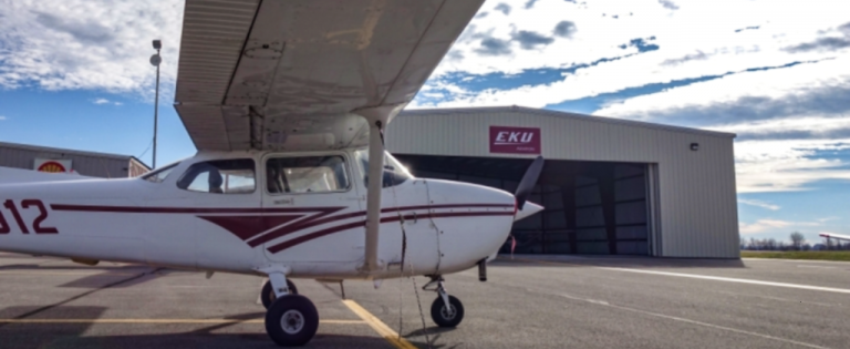 A plane used in the EKU Aviation program